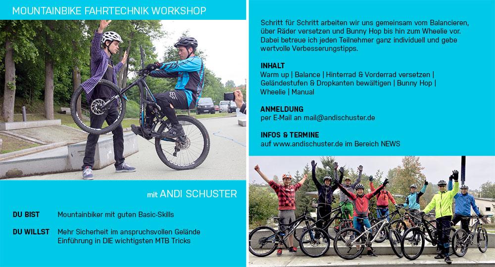 AndiSchusterMountainbikeTrialShowNewsMountainbike FahrtechnikWorkshops2017TermineundAnmeldung
