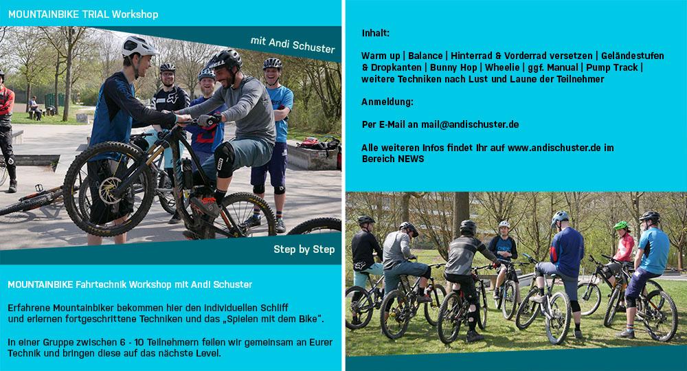 Mountainbike Fahrtechnik Workshops 2018 ANDI SCHUSTER Termine und Anmeldung